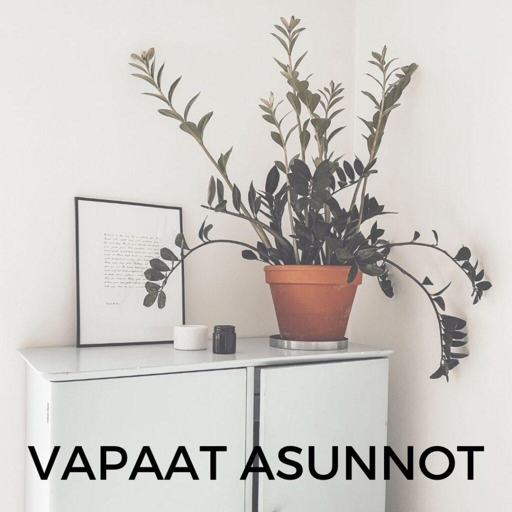 Vapaat-asunnot. Sisältää linkin Vuokraovi.com -sivustolle. Sisustuskuva.